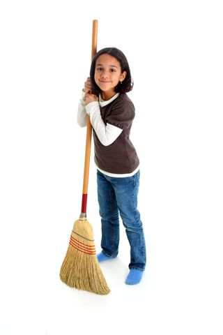 Child with a Broom