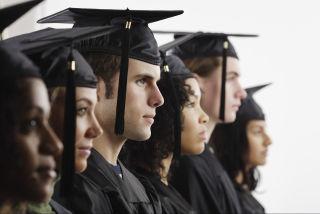 College Graduation Cap Gown Students