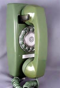 Green Rotary Phone