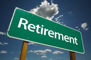 Retirement Road Sign